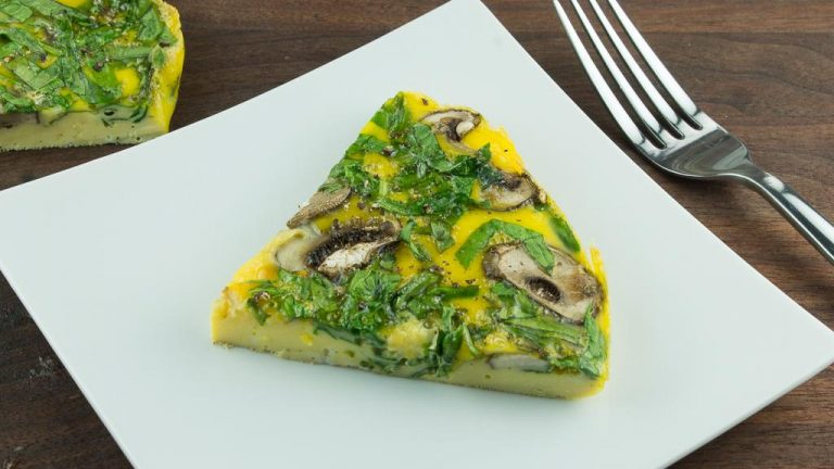 spinach-and-mushroom-fritatta